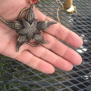 Starfish brass tone belt buckle